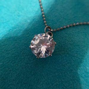 FREE GIFT 🎁 Giant Cubic Zirconia Diamond Necklace